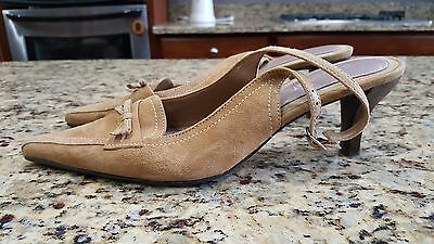 Womens Naturalizer Suede Leather Heels Abigail tan nice size 9M
