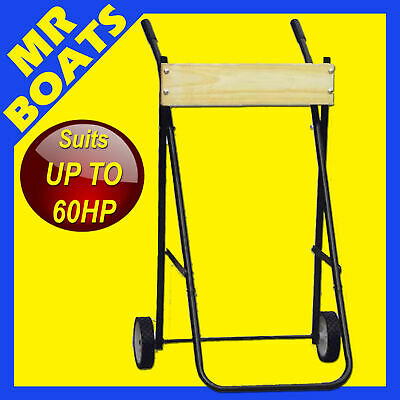Outboard Trolley - X-Large - H-Duty Boat Motor Stand Bracket Rated To 60Hp 100Kg