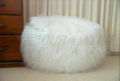 Shaggy Bean Bag Cover Large Soft White Luxury Beanbag Fur Soft Lounge Chair New