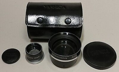Yashica Yashinon -Aux Telephoto Lens, With Viewer and Caps, and Case - Excellent