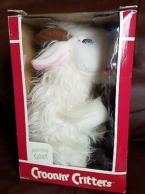 Dept 56 Croonin Critters Animated Singing Goat Retired WORKING and WITH BOX