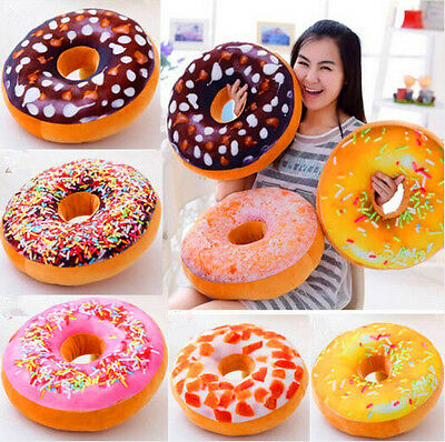 Doughnut Donut Shaped Stuffed Cushion Throw Pillow Waist Pillow Plush Dolls Toys
