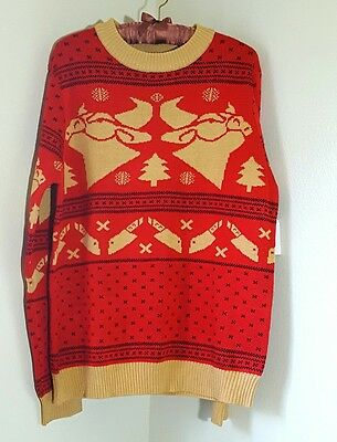 Cow Chop Christmas Sweater Prototype Size Large OOAK