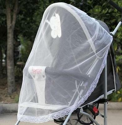 110cm Infants Baby Stroller Pushchair Buggy Mosquito Insect Protector Net Mesh ♫