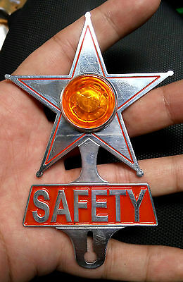 Vw Volkswagen Safety Reflector Star Classic Vintage Badge Beetle Bug Bus Specs