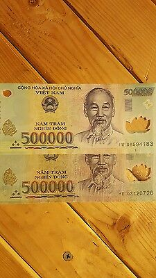 Vietnam 2 × 500,000 VND currency 1 million Dong