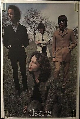 The Doors Vintage Poster Pin-up Lizard King Jim Morrison Group Picture 1978