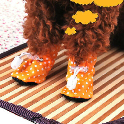 Pet Puppy dots Colors Waterproof Boots Protective Rubber Rain Shoes Booties TP