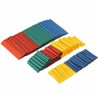 260pcs Assortment 2:1 Heat Shrink Tubing Tube Sleeving Wrap Wire Cable Kit