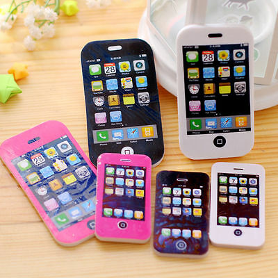 2 Size iPhone Shaped Rubbers Pencil Eraser Students Novelty Stationery