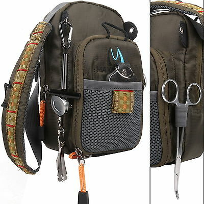 Fly Fishing Chest Pack Bag/Outdoor Sports Fishing Pack Adjustable Mutil-Pocket