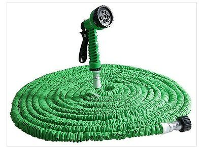 Flexible 25 ft - 200 ft Garden Expandable Water Hose with Spray Nozzle 8 Sizes
