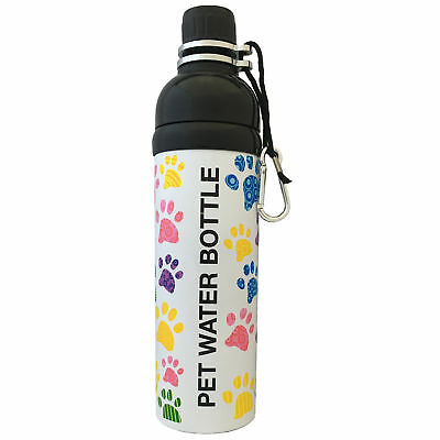 Long Paws Pet Dog Water Bottle Lick N Flow Hydration Leak Resistant 750ml Paws