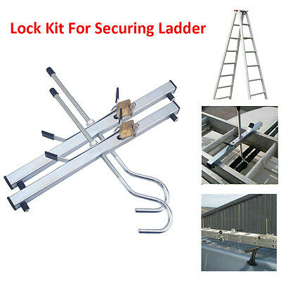 Quick Lock/Release Steel Ladder Clamp With 2 Padlocks Kit For Securing Ladders