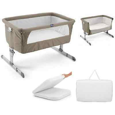 Bed Side Baby Crib Chicco Next 2 Me Drop Side, Dove - bed side & stands on own