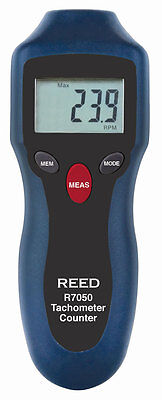REED R7050 Compact Non-Contact Photo Tachometer and Counter
