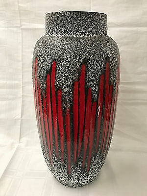 XL Fat LAVA Vase RARE Scheurich West Germany Otto Roth Bodenvase
