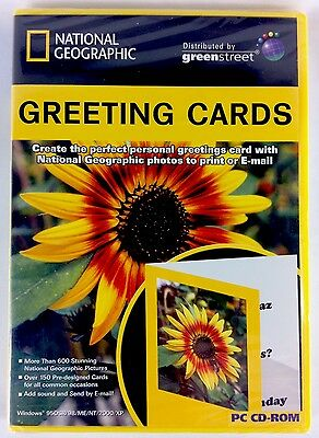 National Geographic Greeting Cards By Greenstreet Software PC CD-ROM New Sealed