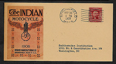Personalized Indian Motorcycle 1908 Postcard Advertisement Reprint *033