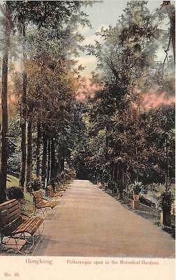 HONG KONG, CHINA, PATH IN BOTANICAL GARDENS, H.K. PICTORIAL PC CO PUB, c. 1902