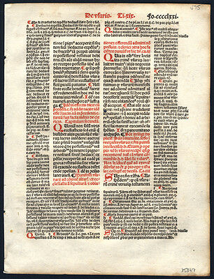 The Decretales of Pope Gregory IX 1505 Leaf Lot (4)  Ecclesiastical & Canon Law