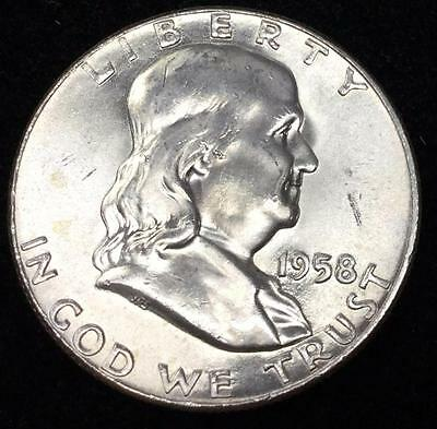 1958-P UnCirculated Franklin Half Dollar - Combined Shipping !!!