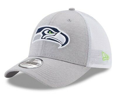 "Seattle Seahawks New Era NFL 39THIRTY ""Tech Sweep"" Gray Flex Fit Hat"