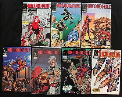 Lot of 7 Blood Fire Comics - 1993 - Issues 1A,2,3,4,5,10,11 - Lightning - VF