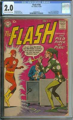 Flash #106 Cgc 2.0 Cr/ow Pages