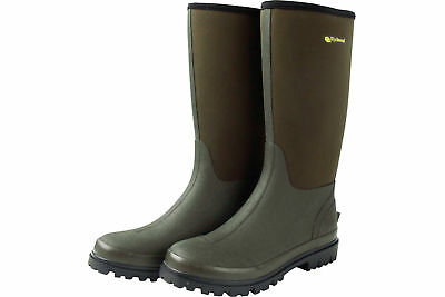 Wychwood - Neoprene  3/4 Waterproof Wellington Boots Green - Coarse/Carp Angling