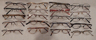 20 pc DESIGNER METAL Eyeglass Frame Lot New Old Stock lot #11