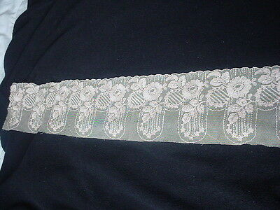 Antique Early Magnificent French Tambour Lace Trim
