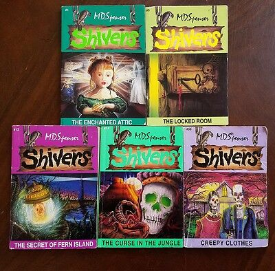 Lot of 5 M D Spenser SHIVERS Books  Fern Island Creepy Clothes Enchanted Attic