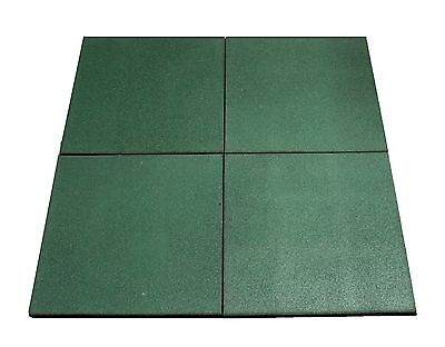 HIKS Green Rubber Indoor/Outdoor Safety Protection Matting/Mats/Tiles Play Area