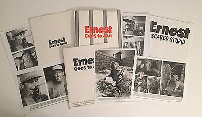Ernest Goes to Camp, Ernest Goes to Jail & Ernest Scared Stupid Press Kits!!