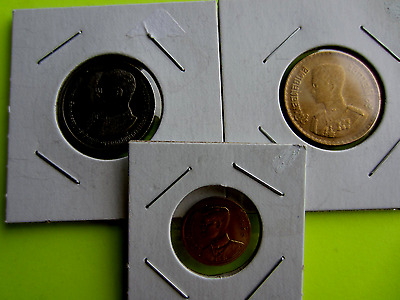 Mixed Lot of 3 Thailand Coins