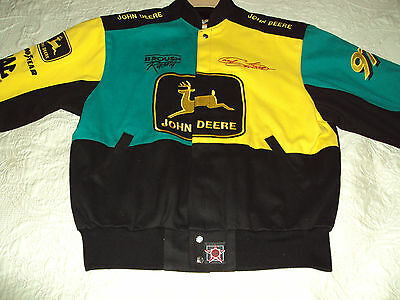 John Deere Chad Little #97  Nascar Racing Motorsports Jacket - Large