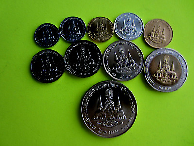 Thailand Coins, King Rama 9, Golden Jubilee Coin Set of 10 Coins