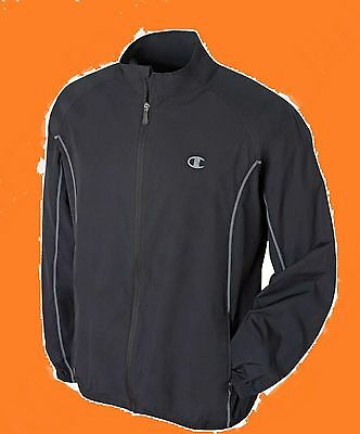 Mens Size Medium Champion Running Cycling Training Top Jacket Black Waterproof