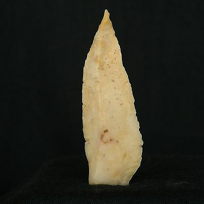 PERFECT ! Saharian UPPER PALEOLITHIC ! Flint PROJECTILE ARMATURE - 59 mm LONG