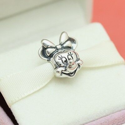 * New! Authentic Pandora Disney Minnie Portrait  791587 w Pouch