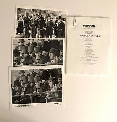 Gangs of New York - Press Kit - Leonardo DiCaprio & Daniel Day-Lewis!! 3 photos!