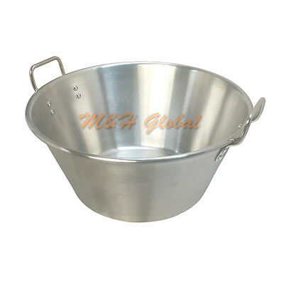Stainless Steel 16'' Cazo Carnitas Flat Base Cooking Stock Pot