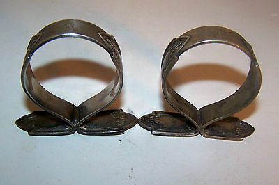 2 Antique Victorian Silverplate Napkin Rings Signed Williams Bros Estate Find