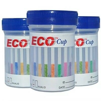25 Cups- 6 Panel ECO Cup Multi Drug Test: BZO/COC/MAMP/OPI/THC/OXY