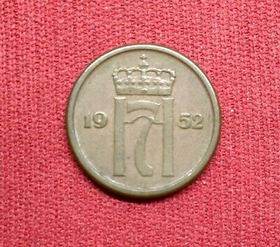 Norway 1 Ore, 1952, World Coin