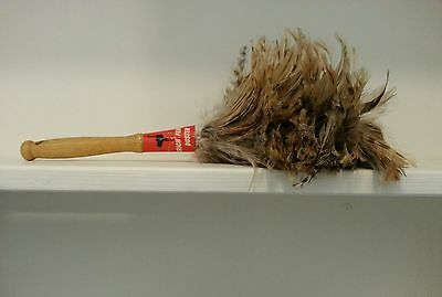Vintage Ostrich Feather Duster with Wood Handle