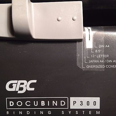 GBC Docubind P300 Deluxe Manual Bind System Electric Punch Comb Binding Machine