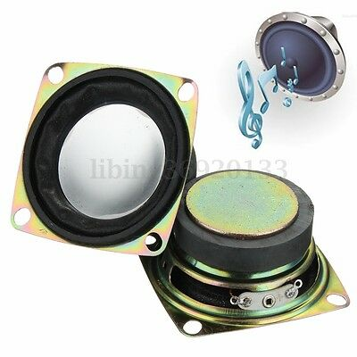 2pcs 52mm 2'' inch 4Ohm 4Ω 3W Full Range Audio Speaker Stereo Woofer Loudspeaker