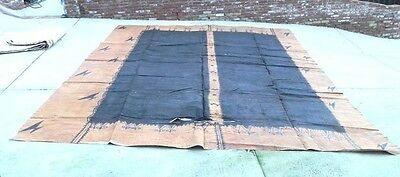 "Large Tapa Cloth Pacific Samoa Tonga ~ 13' 9"" x 16' 3"""